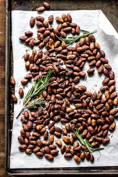 rosemary roasted almonds {a butt story}
