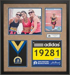 I'd like to display the medals for my first full marathon & first ultra marathon like this in a Shadowbox.