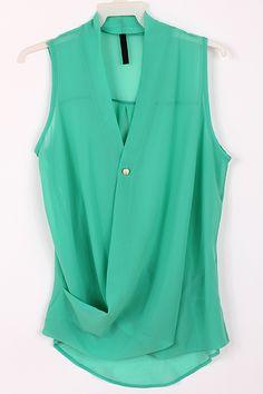 Chiffon Paris Green Top chiffon pari, chiffon green, mint green, color, green top, white jeans, fashionable outfits, pari green, shirt