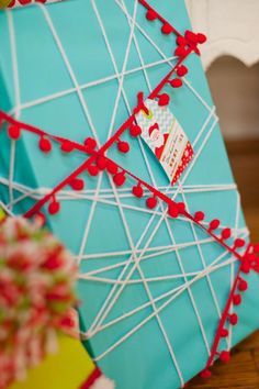 Fun Wrapping Idea.  That would take FOREVER to unwrap!