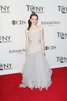 Once's Elizabeth A. Davis walks the red carpet at the #TonyAwards