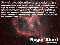 Rest in peace Roger Ebert