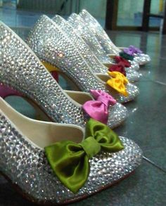 Cute idea for bridesmaids shoes