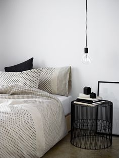 Noir & Blanc decor, bedroom space, interior, road bedsid, idea, country roads, countri road, bedroom inspir, country road homewares