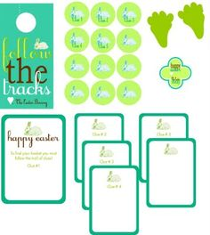 free printable easter egg scavenger hunt. love these colors!