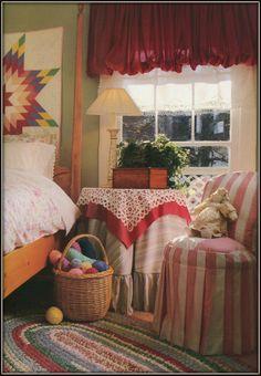 Rag Rug Balloon Curtains Star QuiltWonderful Bedroom