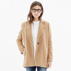 "MW Brushweave Cocoon Coat || so plush and ""teddybear"" like..."