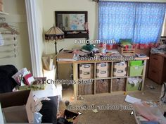 One week, one messy craft room. Can she clean it?