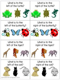 Spatial Concepts: Free Left & Right Flash Cards