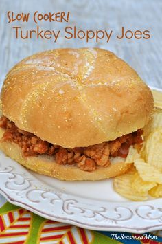 Slow Cooker Turkey Sloppy Joes: a healthier, more convenient version of the classic family favorite!