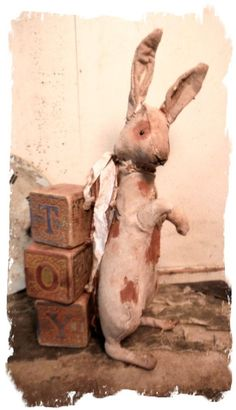Primitive SpoTTeD Rabbit by Whendi Bears