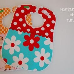 Boutique style baby bibs tutorial. Can use cute/funky fabrics.
