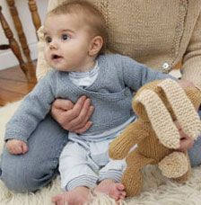 Knitted Cuddlies by Louisa Harding  - one of 7 knitting patterns for baby.