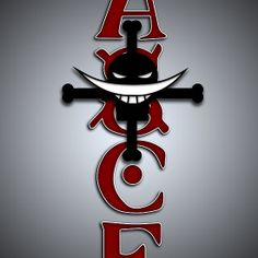 Ace Tattoo (One Piece Anime ) Available as Cards, Prints, Posters, T-Shirts & Hoodies, Kids Clothes, Stickers, iPhone & iPod Cases, and iPad Cases