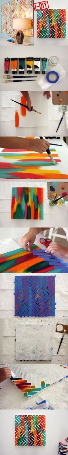 DIY Project Painters Tape Art