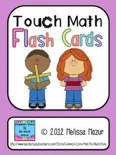 Touch Math Flash Cards - Addition and Subtraction