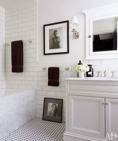 subway tile and floor tile
