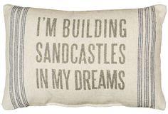 Sandcastles Linen Pillow