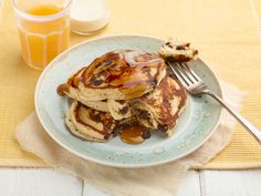 Chocolate Chip Pancakes Recipe : Food Network - FoodNetwork.com
