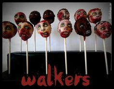 "The Walking Dead ""Walkers"" cake pops by Let Them Eat Cake Pops ~ awesome!!"