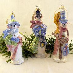 Ceramic Oakknob Snowman Ornament Set of by #etsy #dteam GrapeVineCeramicsGft, $30.00