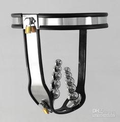 Bondage Sex Toys Stainless Steel Chastity Belt Anal Plug Vaginal Plug T-type AAAAA Chastity Device $212.75