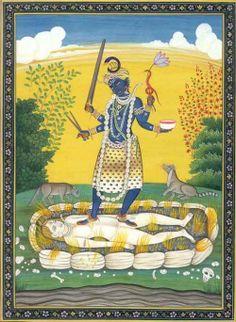 Kali on Shiva
