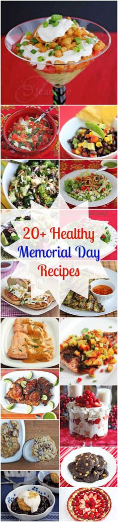 20 Healthy Memorial Day Recipes © Jeanette's Healthy Living #glutenfree #memorialday #holidayrecipes #healthy