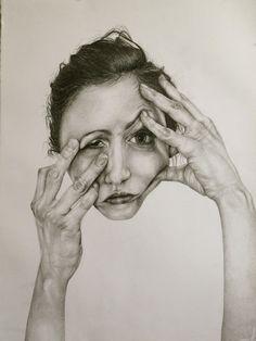 Gillian Lambert - face distortion portraits