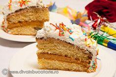 Tort Carnaval cu crema caramel