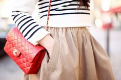 Chanel Classic: small, red w/ gold hardware