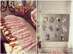Layla's First Birthday. White chocolate covered pretzels. Monthly photos. Child's first birthday. Girl's birthday.