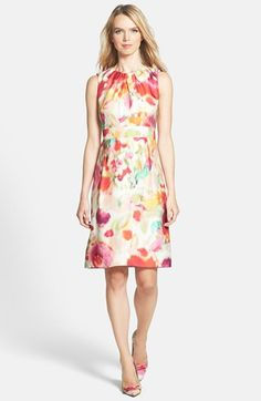 Such a pretty watercolor effect on this Summery dress via @Nordstrom