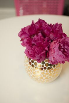 pretty vase + flowers