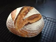 """Beautiful! """"We are a new micro bakery... First loaf by my 13 year old son."""" —Hope Bake home micro-bakery ([@]HOPEbake). Photo pinned with permission."""
