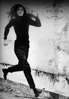 Helena Christensen for Prada Fall 1990