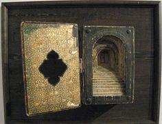 """""""Tunnel Book,"""" R. Maendel books, book art, art paintings, german bibl, street art, front doors, alter book, bible, tunnel book"""