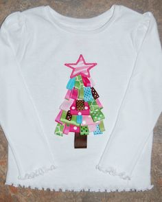 Little Peep Boutique: Ribbon Christmas Tree Shirt