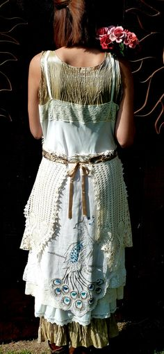 Vintage Slip  Dress Shabby Chic