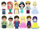 disney prince and princesses