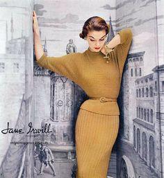 Jean Patchett - Jane Irwill 1952, vintage 1950s / 50s fashion
