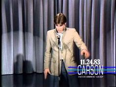 "Jim Carrey Makes His First U.S. TV Appearance on ""The Tonight Show"" - 1983"