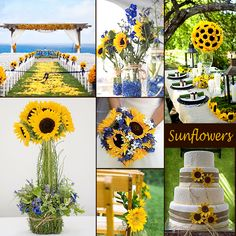 Sunflowers - Wedding Flower yellow and blue colors