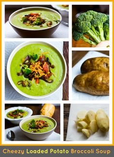Cheezy Loaded Potato Broccoli Soup: Healthy Makeover Recipe - Healthy. Happy. Life.
