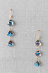Chelles Linear Crystal Drop Earrings  $18.00