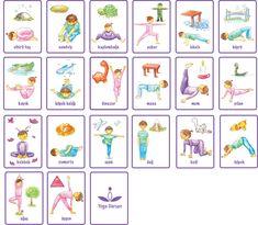 Yoga-kaarten voor bewegingshoek of tussendoortjes
