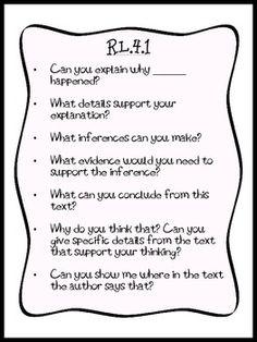 4TH GRADE COMMON CORE 4TH GRADE ESSENTIAL QUESTIONS AND TEACHER PROMPTS - TeachersPayTeachers.com
