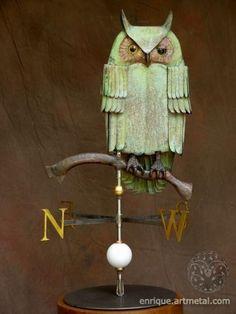 Owl weather vane