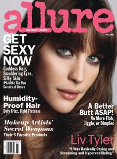 Allure-Inspired Smoky Eyes: Daily Beauty Reporter : We are totally flattered by this one. At a recent meeting with Smashbox Cosmetics, they told us that their Waterproof Shadow Liner and No. 30 Brush were inspired Allure's July '07 cover! After seeing the photo of Liv Tyler, the...