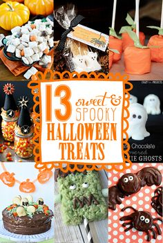 13 Easy Halloween Treats, super cute & easy!